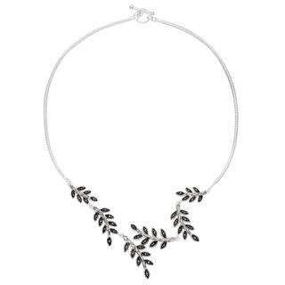 Silverplated Marcasite Leaf Bypass Toggle Y Necklace https://ak1.ostkcdn.com/images/products/10584424/P17659295.jpg?impolicy=medium