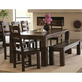 Saratoga Modern Solid Block Wood Dining Set