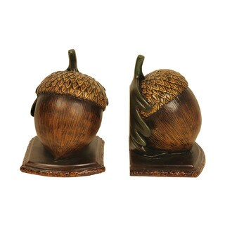Sterling Muir Woods Acorn Bookends