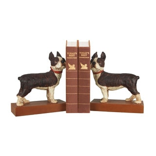 Sterling Pair Boston Terrier Bookends