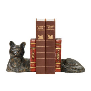 Sterling Pair Cat Napping Bookends