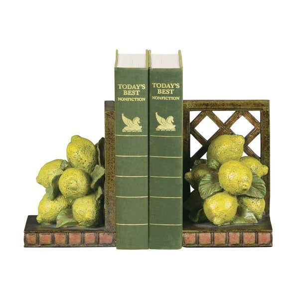 Sterling Lemon Orchard Bookends