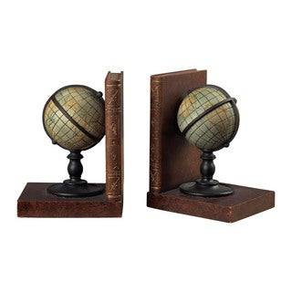 Sterling Atlas Bookends