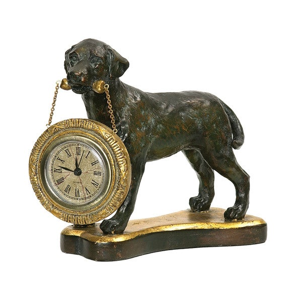 Sterling Labrador Retriever Desk Display Clock