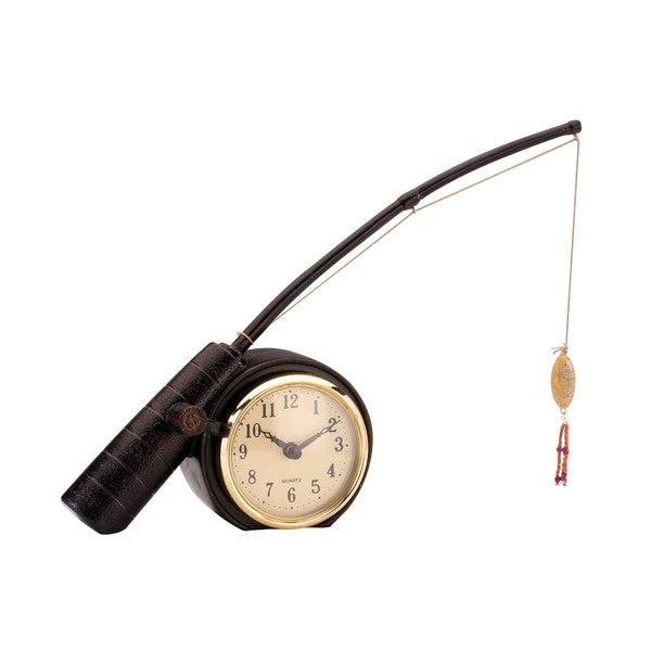 Sterling Rod 'N Reed Fishing Display Clock