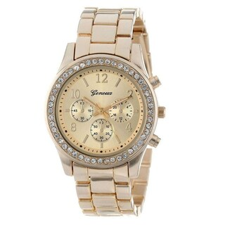 Women's Cubic Zirconia Chronograph Style Boyfriend Watch (3 options available)