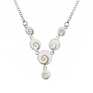 Handmade Gracious Shiva Eye Shell .925 Sterling Silver Necklace (Thailand)
