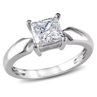 Miadora Signature Collection 14k White Gold 1ct TDW Diamond Solitaire Engagement Ring (J-K, I2-I3)