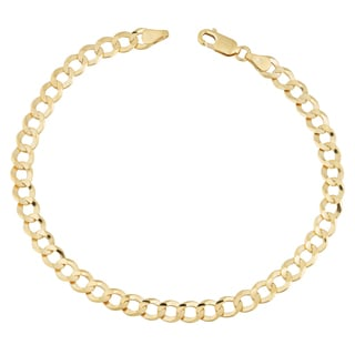 Fremada 14k Yellow Gold 5.7-mm Men's High Polish Solid Curb Link Bracelet