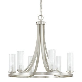 Capital Lighting Donny Osmond Emery Collection 6-light Brushed Nickel Chandelier