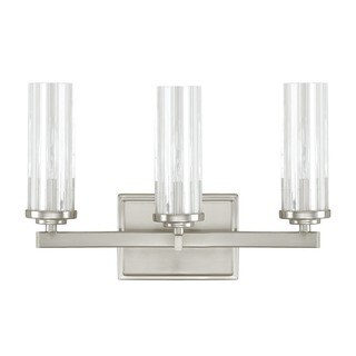 Capital Lighting Donny Osmond Emery Collection 3-light Brushed Nickel Bath/Vanity