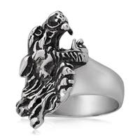 Crucible Stainless Steel Jaguar Cast Ring - White