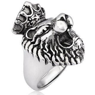 Crucible Stainless Steel King Lion Cast Ring