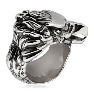 Crucible Stainless Steel Eagle Cast Ring