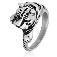 Crucible Stainless Steel Tiger Cast Ring - White