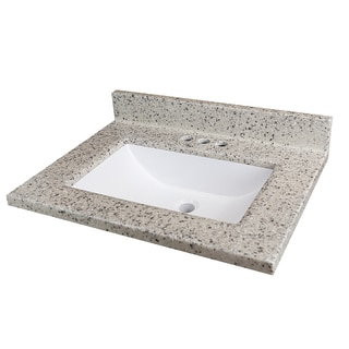 Rocky Trail 25x19-inch Cultured Marble Vanity Top