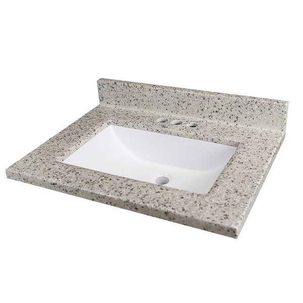 Rocky Trail 25x19 Inch Cultured Marble Vanity Top