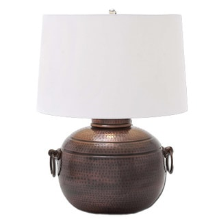 Maxim Hammered Pot Bronze Table Lamp