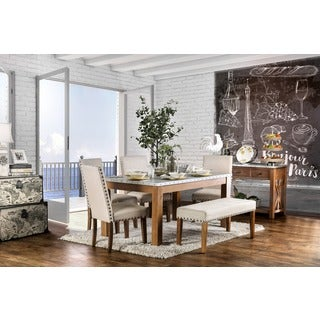 Furniture of America Aralla II Industrial 6-piece Dining Set