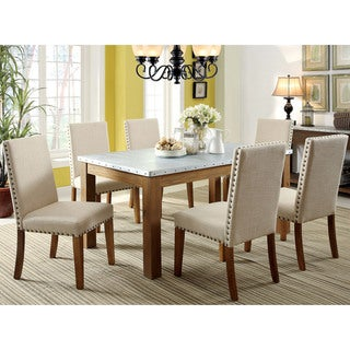 Furniture of America Aralla II Industrial 7-piece Dining Set
