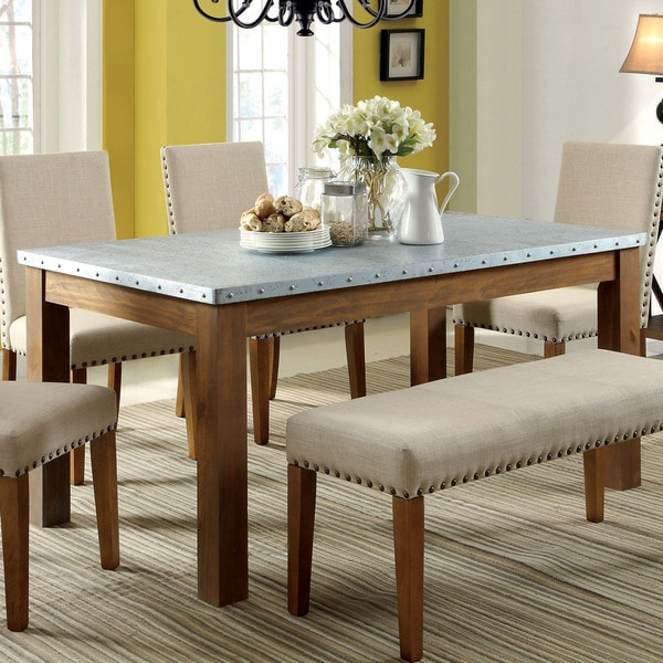 Furniture Of America Aralla II Industrial Style Dining Table Free