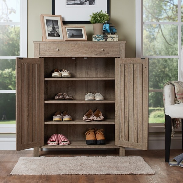 Furniture Of America Mirille Mission Style 4 Shelf Shoe Cabinet