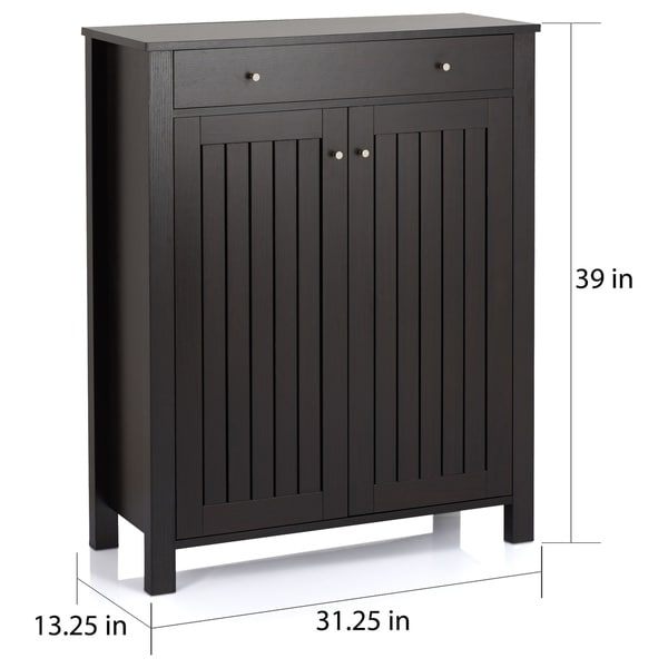 Furniture of America Mirille Mission Style 4-shelf Shoe Cabinet ...