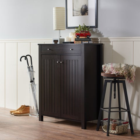 Copper Grove Boutwell Mission Style 4-shelf Shoe Cabinet