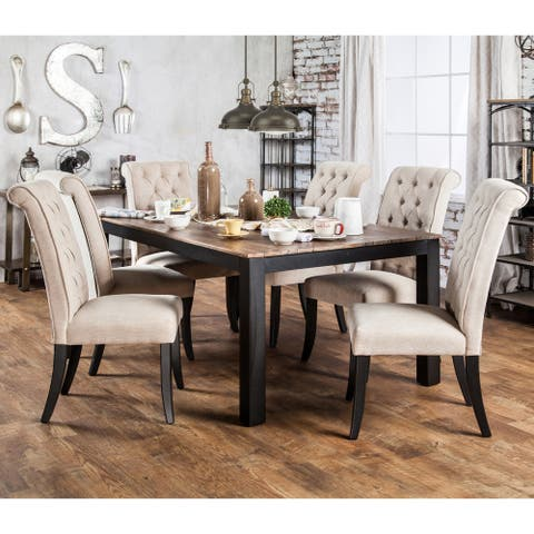 Furniture of America Sheila Transitional Two-tone Dining Table
