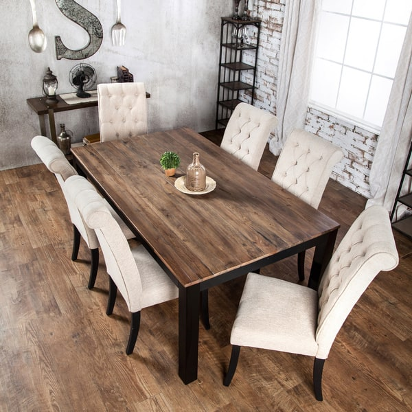 Shop Copper Grove Bogs Mountain Rustic Two Tone Dining Table
