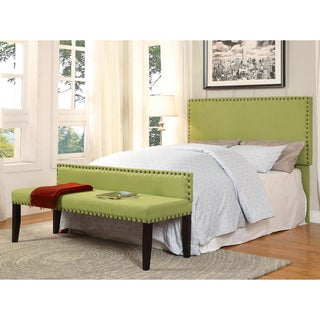 Furniture of America Simone Flax Upholstered 42-inch Backed Accent Bench