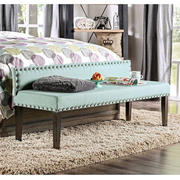 Shop Simone Contemporary Upholstered Accent Bench by FOA - On Sale ...