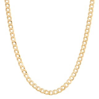 Fremada 14k Yellow Gold 2.6-mm High Polish Solid Curb Link Necklace
