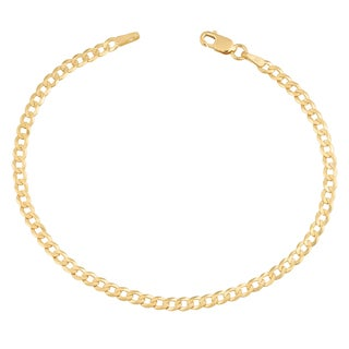 Fremada 14k Yellow Gold 3-mm High Polish Solid Curb Link Bracelet