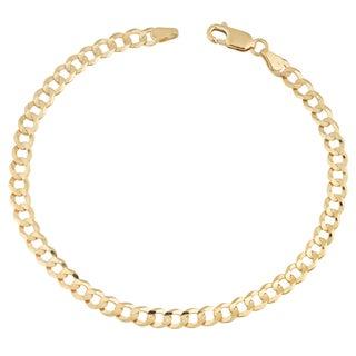 Fremada 14k Yellow Gold 4.7-mm High Polish Solid Curb Link Bracelet