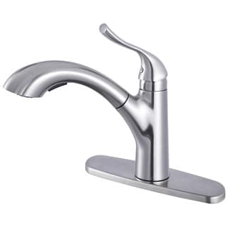 Upscale Designs Lead-free Single-handle, Pull-down Sprayer Kitchen Faucet in Brushed Nickel
