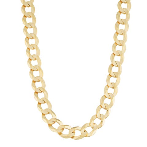 Fremada 14k Yellow Gold 6.9-mm High Polish Solid Curb Link Necklace