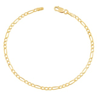 Link to Fremada 14k Yellow Gold 2.3-mm High Polish Solid Figaro Link Bracelet (7.5 inches) Similar Items in Bracelets