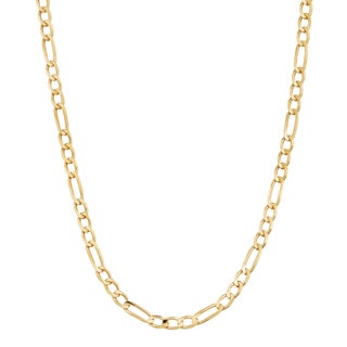Fremada 14k Yellow Gold 2 3 Mm High Polish Solid Figaro Link Chain Necklace 18 30 Inches