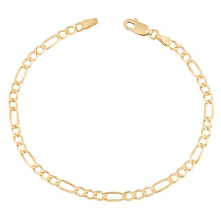 Fremada 14k Yellow Gold 3 3 Mm High Polish Solid Figaro Link Bracelet 7 5 Or 8 5 Inches