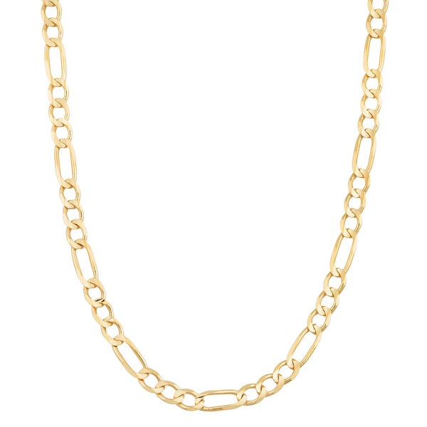 Fremada 14k Yellow Gold 3.3-mm High Polish Solid Figaro Link Chain Necklace (18 - 30 inches)