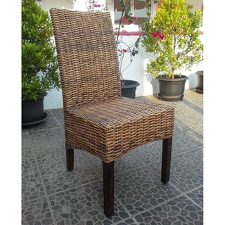 Link to International Caravan Java Rattan Mahogany Dining Chair Similar Items in Kitchen & Dining Room Chairs