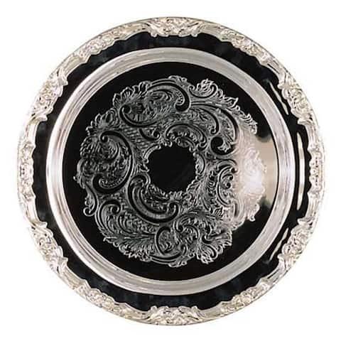 Heim Concept Romantica 15-inch Round Silver Plated Tray