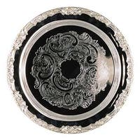 Heim Concept Romantica 15-inch Round Silver Plated Tray
