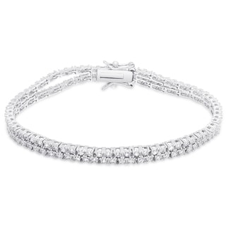 Finesque Sterling Silver 3/5 ct TDW Diamond Bracelet