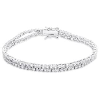 Finesque Sterling Silver 3/5 ct TDW Diamond Bracelet