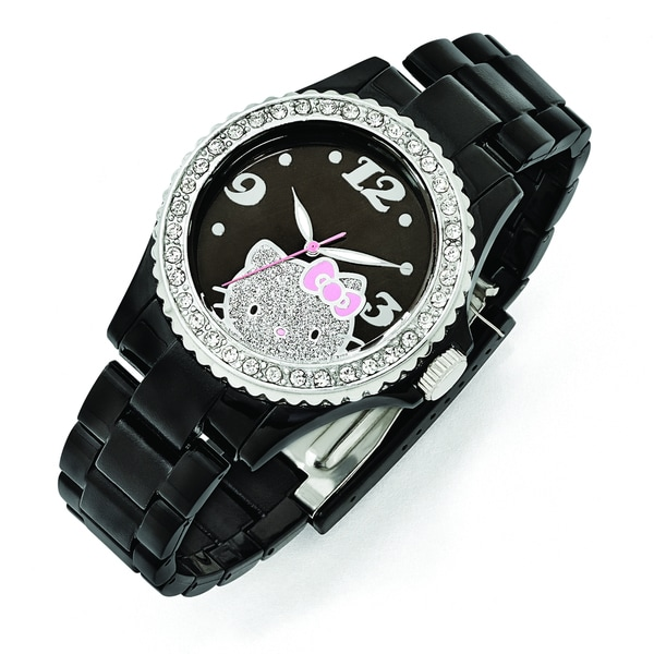 241c86f5c Shop Versil Hello Kitty Women's Black Dial Crystal Bezel Acrylic Watch -  Free Shipping Today - Overstock - 10584839