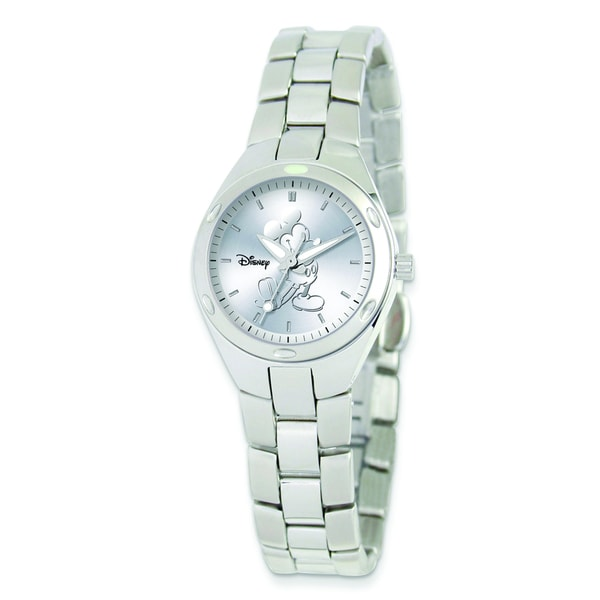 7ffa060a4 Shop Versil Disney Women's Stainless Steel Round Silver Dial Mickey Mouse  Watch - Free Shipping Today - Overstock - 10584859