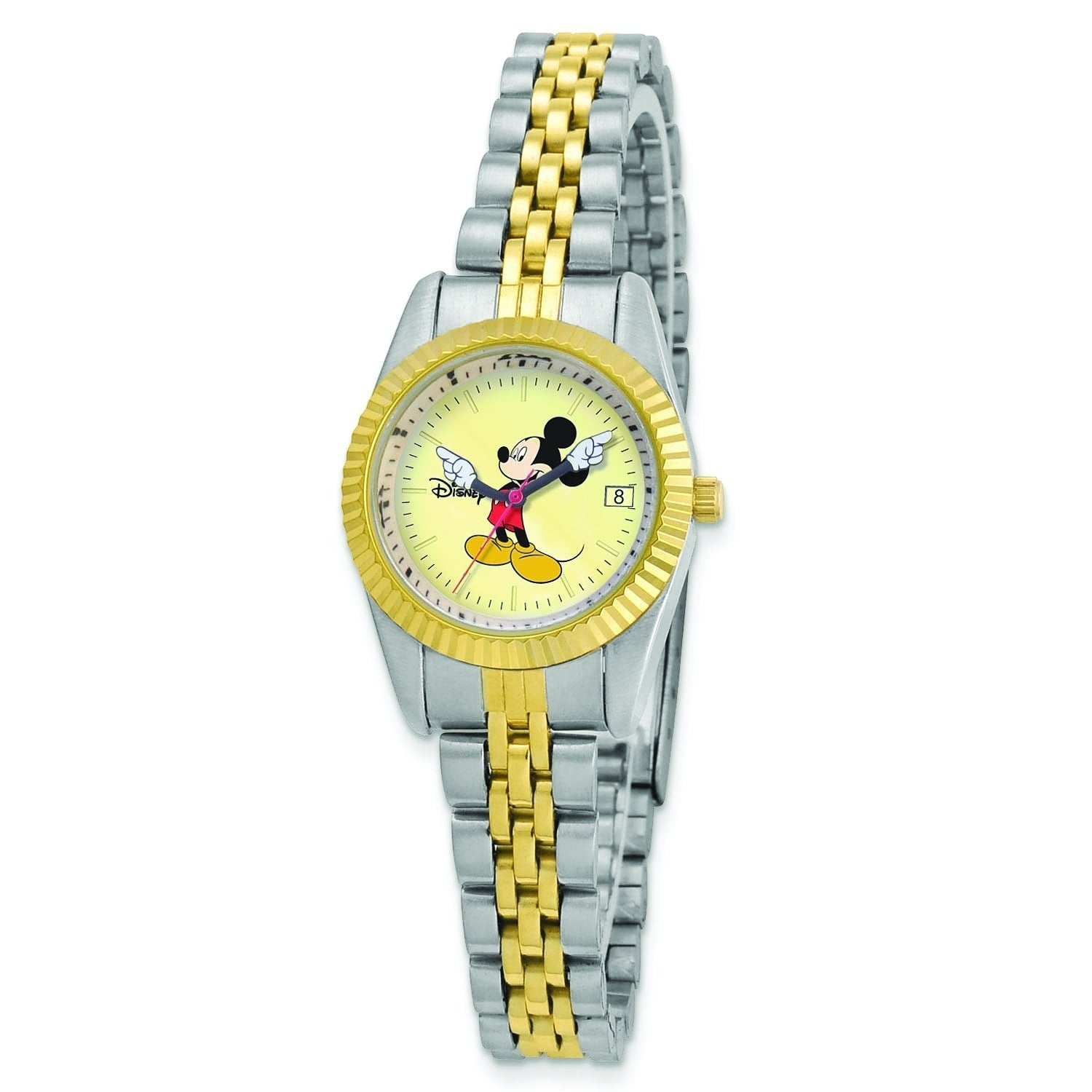 Versil Disney Women's Two-tone Moving Arms Mickey Mouse W...
