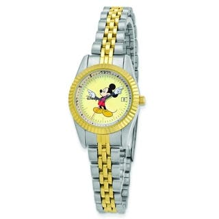 Versil Disney Women's Two-tone Moving Arms Mickey Mouse Watch|https://ak1.ostkcdn.com/images/products/10584862/P17659716.jpg?impolicy=medium
